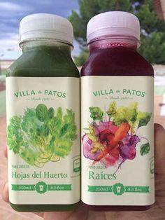 Prueba los dos nuevos sabores de jugos de @villadepatosMX . Frescos y nutritivos, en #Anatole13.