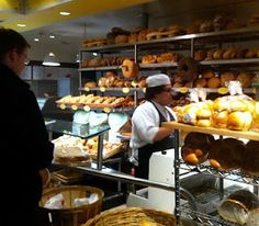 The fresh bread aroma fills Eatzi's. It's all you can do not to sample a piece.