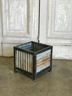 Galvanized Planters, Metal Planters, Large Planters, Metal Barn, Metal Roof, Barn Wood, Corrugated Tin, Corrugated Roofing, Tin Siding