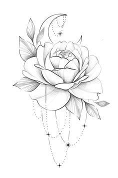 Bild Tattoos, Cute Tattoos, Body Art Tattoos, Small Tattoos, Sleeve Tattoos, Floral Tattoo Design, Flower Tattoo Designs, Flower Tattoo Drawings, Flower Tattoos