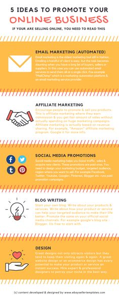 How do you promote your #business? What are your tricks & techniques? Read this interesting #infographic. Visit our #blog page for more info at www.ebaysellertemplates.com #ebaystoredesign #ebaylistingdesign #ebaystore