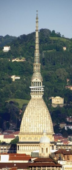 Torino: Mole Antonelliana, symbol of the city, Originally conceived as a synagogue, it now houses the Museo Nazionale de Cinema. Torino, Piedmont.  ITALY