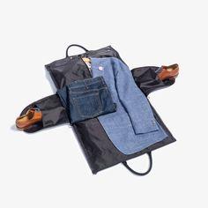 0bf7e8902421 Melange Fabric Garment Weekender Bag Dopp Kit