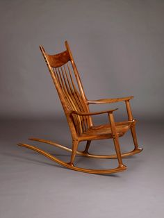 sam maloof rocking chair, Wonderfully crafted rocking chair with beautiful walnut peg joint details