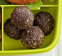 It only takes 15 minutes to blitz dates, nuts, seeds and oats to make this high-energy snack - perfect popped into a lunch box Healthy Chicken Recipes, Vegan Recipes, Cooking Recipes, Brunch Recipes, Free Recipes, Snack Recipes, Energy Snacks, Protein Snacks, Energy Bites