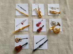Montessori Musical Instrument Replica 3 Part Card by Papyruswork, $30.00