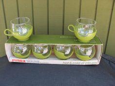 Vintage PYREX  Hot & Cold Drinkups by TimeWarpJunkie on Etsy, $27.99