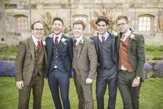 A romantic English wedding   Newburgh Priory Wedding Venue in Yorkshire   Mismatched Bridesmaids   Groomsmen in Tweed   Images by Matt Ethan Photography   http://www.rockmywedding.co.uk/kate-kim/