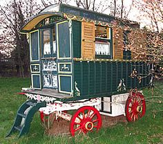 English Gypsy caravan, is a Watson , circa 1900,is a rare waggon.Has wooden wheels with iron tyres.