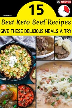 Healthy Keto Beef Recipes -- Give These Delicious Meals A Try - Try these delicious and mouth watering recipes for your next dinner. #hotbodzone Keto Beef Stew, Roast Beef Recipes, Soup Recipes, Keto Recipes, Best Healthy Dinner Recipes, Delicious Meals, Yummy Food, Recipes For Beginners, Have Time