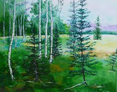 Nature Oil Painting Forest in Arizona by the by ArteDiSvetlana, $85.00