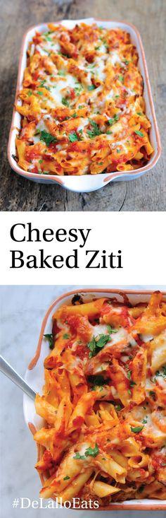 Cheesy Baked Ziti - DeLallo