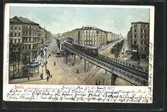 AK Berlin-Kreuzberg, Die Hochbahn am Kottbusser Tor, 1903