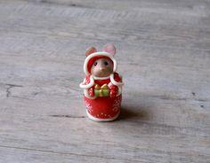 Figurine décorative, sur le thème de Noël, modelée en porcelaine froide (2) : Accessoires de maison par elo-dis-elo