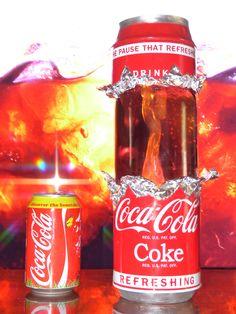 coca cola lava lamp