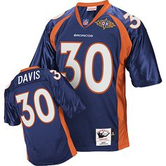 014c5893fbb9 (Authentic Mitchell and Ness Men s Terrell Davis Navy Blue Super Bowl Jersey)  Denver Broncos Alternate NFL Throwback ...