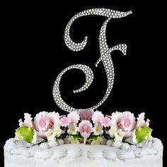 Completely Covered ~ Swarovski Crystal Wedding Cake Topper ~ Letter F