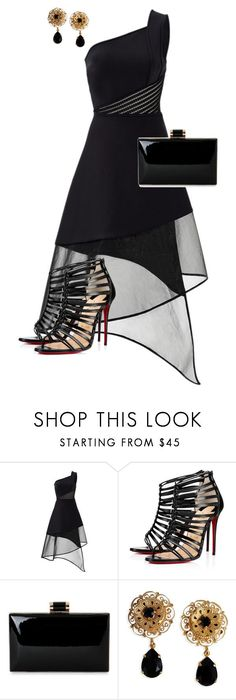 """Untitled #732"" by angela-vitello on Polyvore featuring David Koma, Christian Louboutin and Dolce&Gabbana"