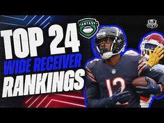 2021 Fantasy Football Rankings - Top 24 Wide Receivers - Fantasy Football Advice - YouTube Fantasy Football Advice, Fantasy Football Rankings, Nfl Season, Wide Receiver, Football Helmets, Youtube, Top, Youtubers, Crop Shirt