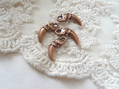 Elephant Spike Charms Copper Bohemian Spike Animal Face Tooth Charms Dangle Rose Gold Diy Jewelry Making Supplies Inv0256 by BuyDiy on Etsy