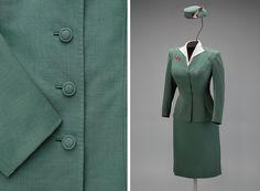 Trans World Airlines hostess uniform by Oleg Cassini   http://www.flysfo.com/museum