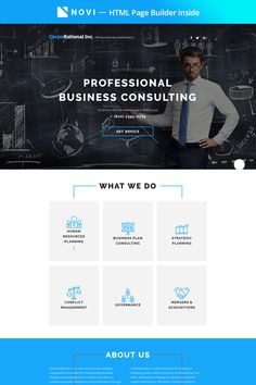 New Business Consulting Landing HTML5 Template will allow you to create a fully-functional HTML5 website without any programming skills.  #novibuilder #landingpage #landingpagedesign  https://www.templatemonster.com/landing-page-template/-corporational-business-consulting-with-built-in-novi-builder-landing-page-template-67586.html/