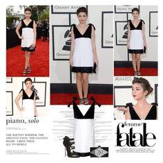 """Sarah Hyland. | Grammys 2014."" by sarahutcherson ❤ liked on Polyvore featuring Emilio Pucci, Edie Parker, Casadei, GetTheLook, Grammys and sarahhyland"