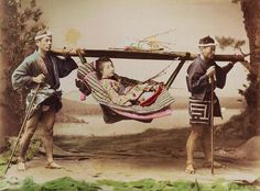 COOLIES CARRY GEISHA IN A KAGO -- The Mountain Taxi of Old Japan by Okinawa Soba, via Flickr