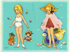 Four seasons paper doll by Iben Clante, Denmark, 1970s (1 of 4)
