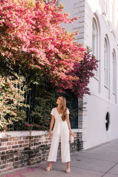 This White Jumpsuit Is So Fresh For Spring