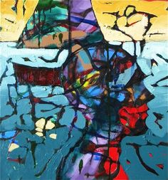 Sailing on my mind 2x2' oil on canvas by William Barnhart