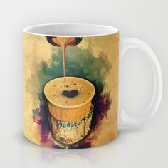 Good Morning Coffee On the Go with Graffitti Wrap – Canvas prints, Gift cards, Tote bags, T-shirts, All over T-shirts, mugs, iPhone cases, iPad sleeves... etc. | Design by András Balogh | Sweet Life – Things to Love series