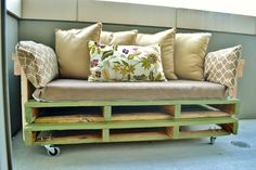 Ana White | Build a Pallet Sofa with Tacoma Perry | Free and Easy DIY Project and Furniture Plans
