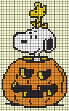 Cross Stitch Needles, Beaded Cross Stitch, Crochet Cross, Cross Stitch Embroidery, Cross Stitch Patterns, Halloween Crochet Patterns, Halloween Cross Stitches, Snoopy Halloween, Cross Stitch Cards