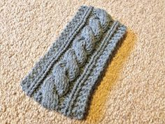 Cable Knit Headband Pattern | Bind off, sew seams together, weave in ends and then you're done!