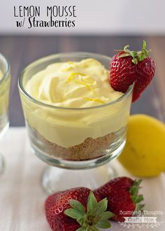 Lemon Mousse w/ Strawberries