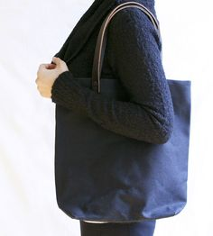 Wax Canvas & Leather Tote Bag