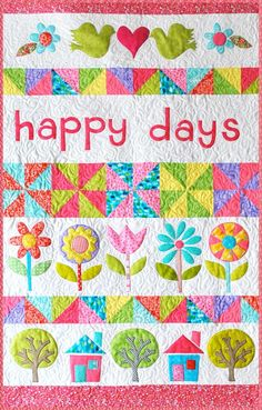 Happy Days Block of the Month - It's A Stitch Online-Webstore