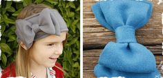 Love these Bow Fleece Head Warmers -my girl needs one! ;)