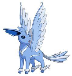 flying eeveelution | Fake Pokemon - This is Zephyreon, the Flying type Eeveelution.