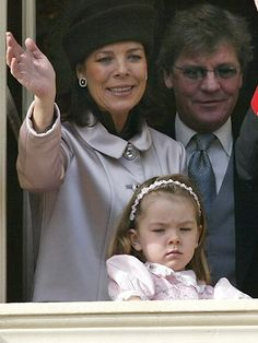 Princess Caroline, Ernst August, and little Alexandra looking none-too-impressed