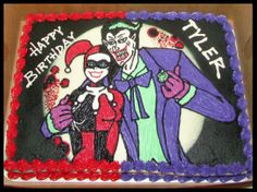 Joker and Harley Quinn Cake