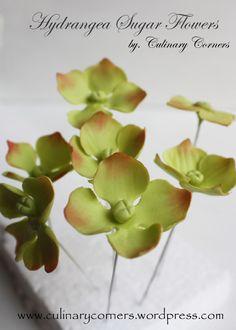 Hydrangea Gumpaste Flowers