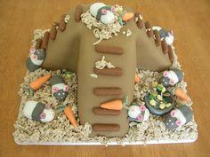 Hamster themed cake! (www.facebook.com/fireflycakes)