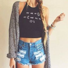 top moon sun sunshine stars galaxy black crop tops cropped brand grunge hipster vintage boho bohemian internet.tumblr internet tumblr t-shirt tees shirt summer dress summer outfits vogue chanel you are my sunshine brandy melville cardigan