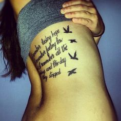 Our lady peace - innocent. I totally am all for a song lyric tattoo!