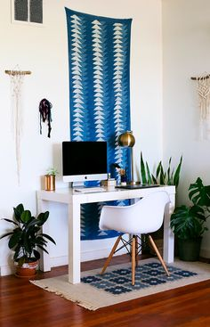 Bright bohemian/plantie home in the California Desert