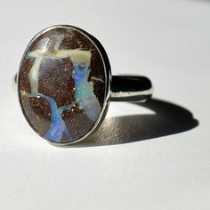 Bolder opal ring