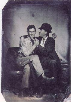 ca. 1890, [portrait of two gentlemen entangled] via Not on Your Tintype: Collection of American Tintypes, Vol. 1, Andrew Daneman