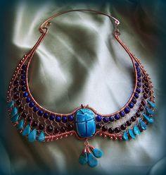 """Nefertari"" Egyptian wire wrap collar by Embellishment Queen, via Flickr"